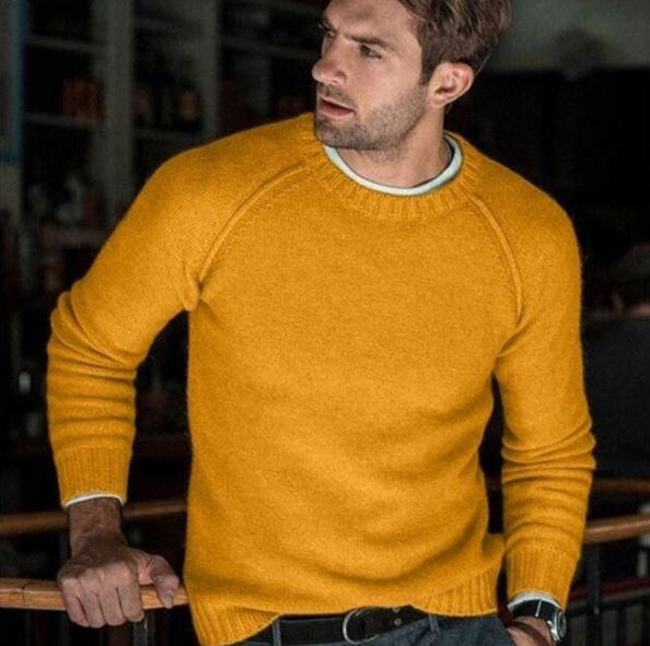 Men's Sweater New Casual Slim Fit Men's Knitted Sweaters Comfort O-neck Knitwear