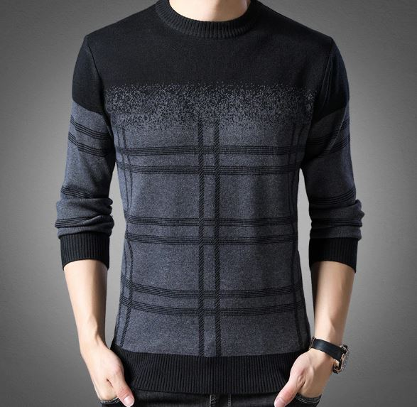 \ fashion brand sweater men pullovers thick thin fit knitted wool jumpers winter korean style casual clothes