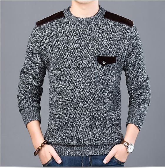 Sweater For Men Pullovers Slim Fit Jumpers Knitwear O-neck Autumn Korean Style Casual