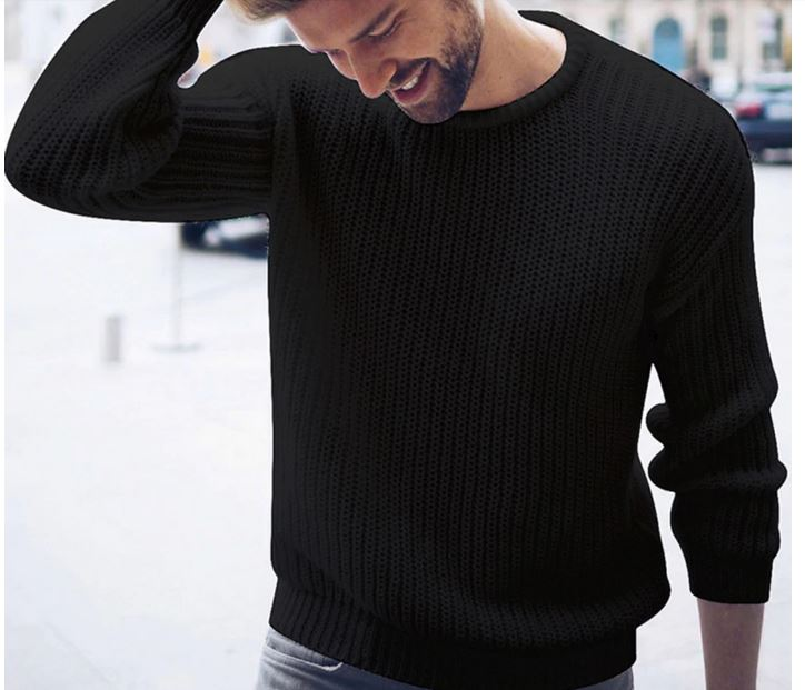 Sweaters Casual Jumper For Male Knitted Korean Style Clothing