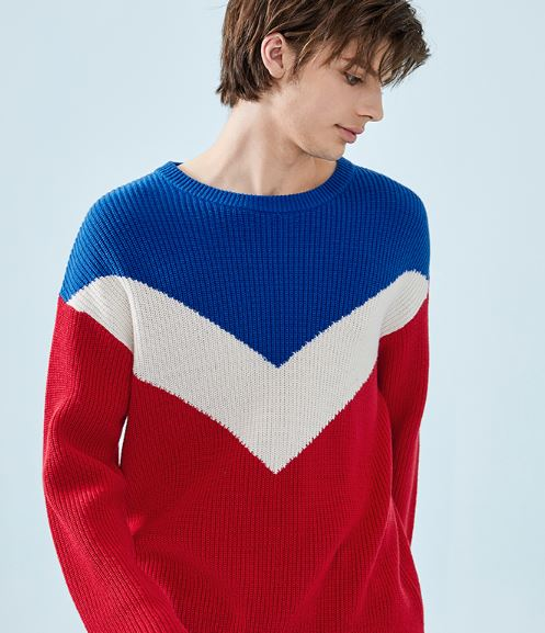Men's Sweater Pullover Men's Sweater Soft Cotton Fallen Shoulder Sweater Fashion