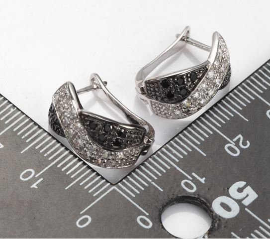 Silver Jewelry Wedding Earrings For Women Noble Christmas Gifts