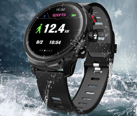 Men Smart Watch IP68 Waterproof Multiple Sports Heart Rate Mode Weather Forecast Bluetooth Smartwatch
