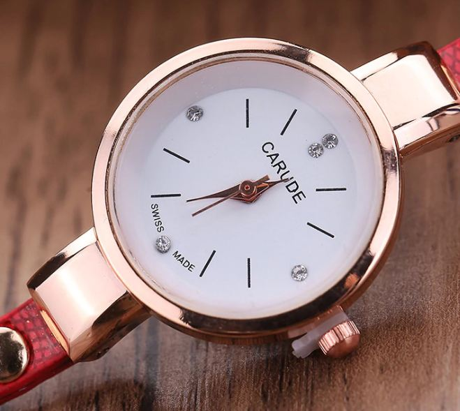 Women watches fashion casual bracelet watches for women Relogio leather rhinestone analog quartz women watches Montre Femme