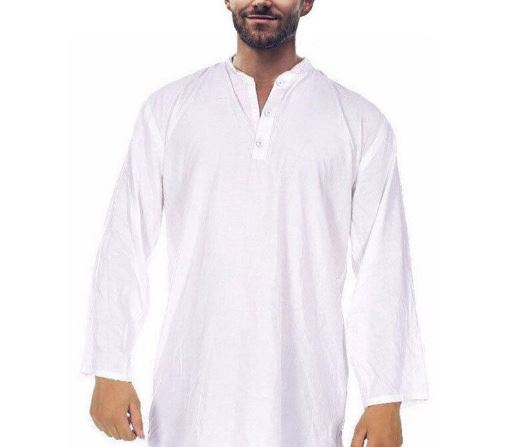 Men's Kurta Shirts Kurta Tunic Long Sleeve Suits Loose Dress Baggy 5XL Islamic Pakistani Indian Multi-Color Basic Men's Clothing